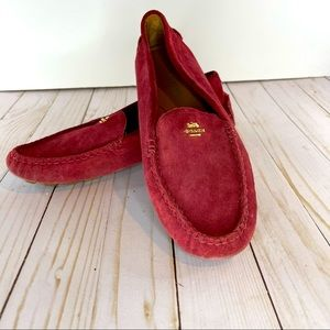 Coach maroon amber loafers